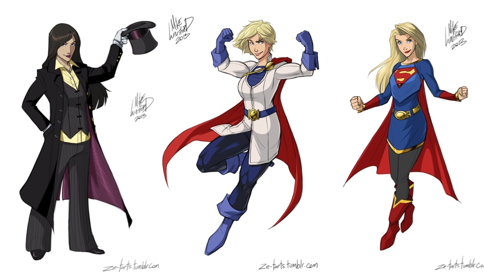 Female Superheroes By Artist Michael Lee Lunsford For
