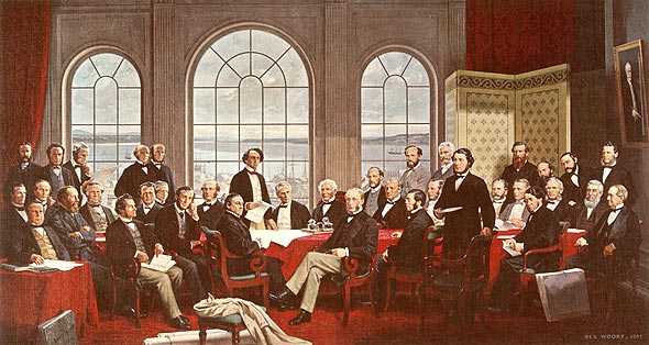 Fathers of confederation colour