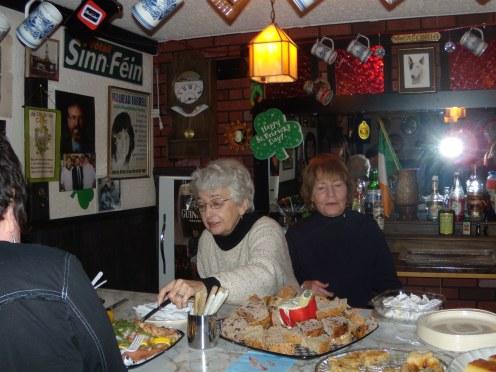Bernice Morgan Anne Hart in Irish Pub